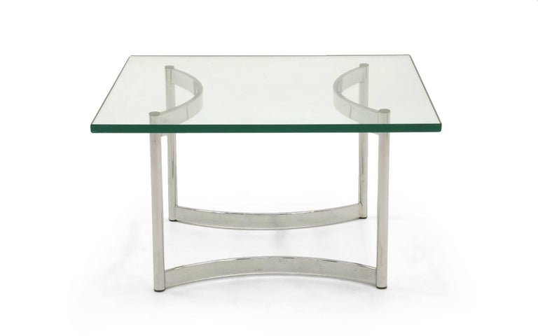 Square Glass And Chrome Coffee Table For Sale At Stdibs - 36 inch square glass coffee table