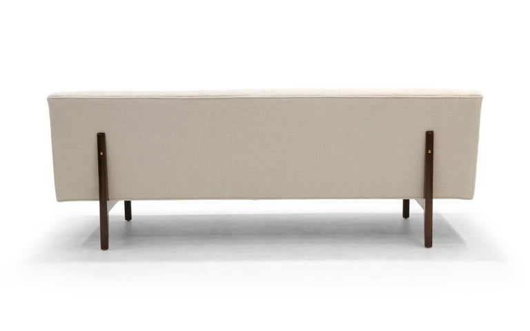 Mid-Century Modern Dunbar High Back Bracket Sofa Designed by Edward Wormley For Sale