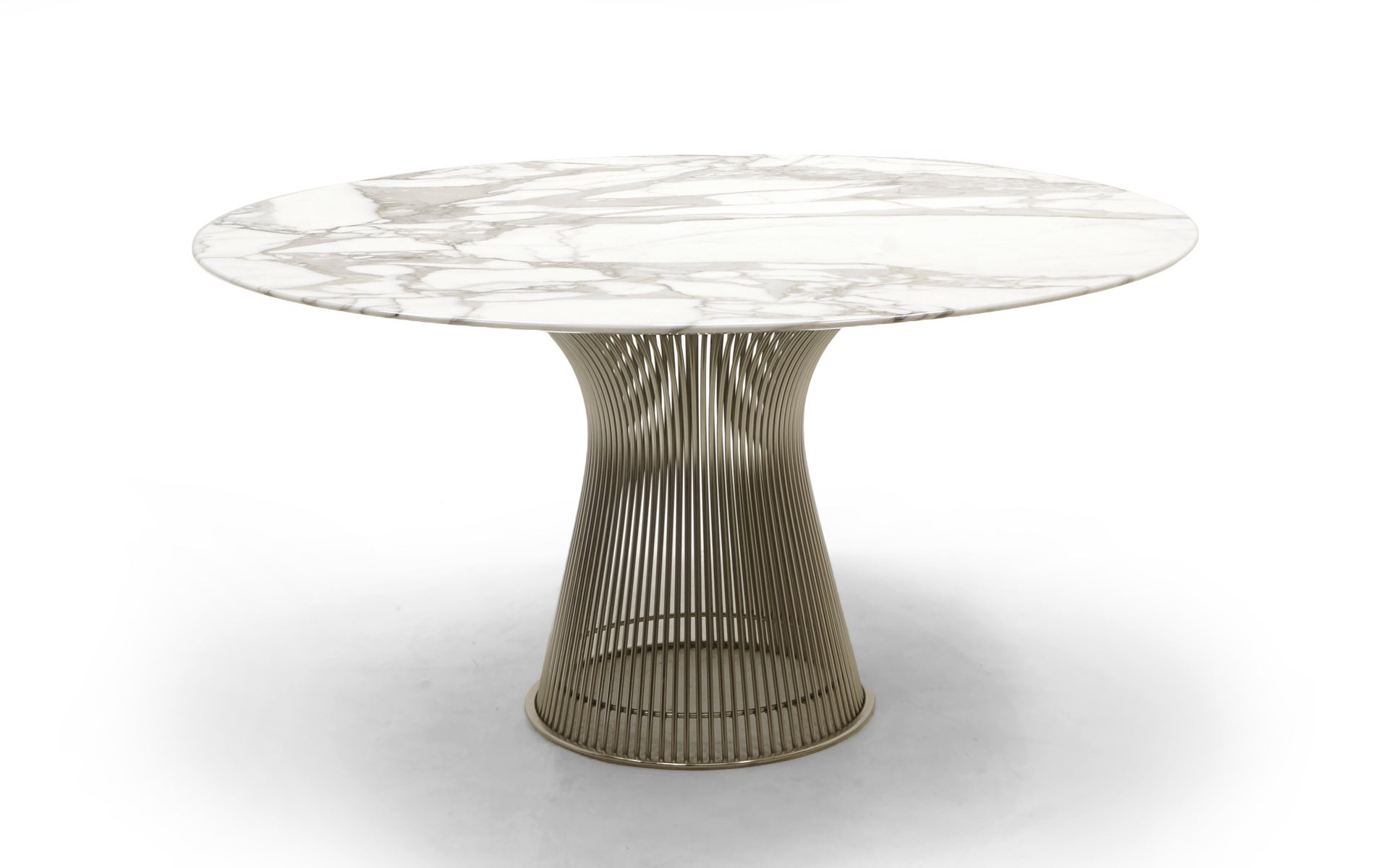 Marble Dining Table And Six Chairs By Warren Platner For