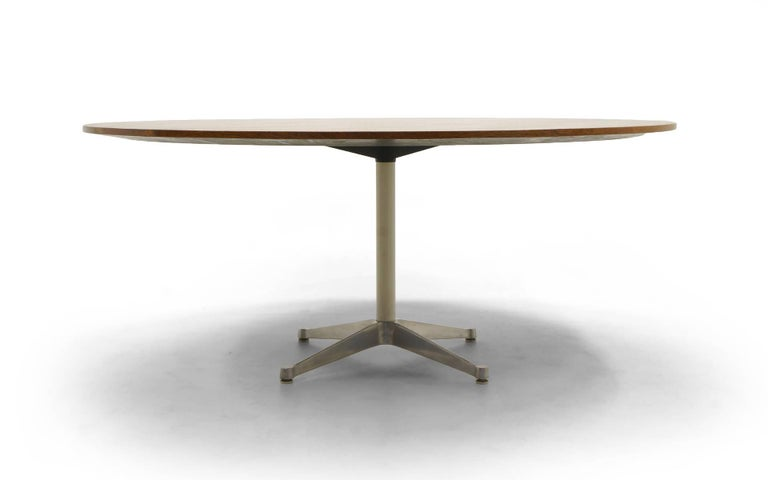 Prototype George Nelson Rosewood Round Dining or Conference Table, One of a Kind For Sale 1