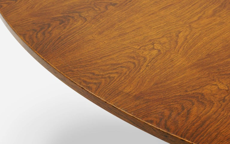 American Prototype George Nelson Rosewood Round Dining or Conference Table, One of a Kind For Sale