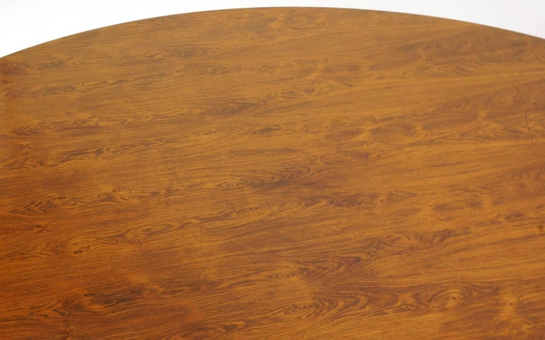 Mid-20th Century Prototype George Nelson Rosewood Round Dining or Conference Table, One of a Kind For Sale