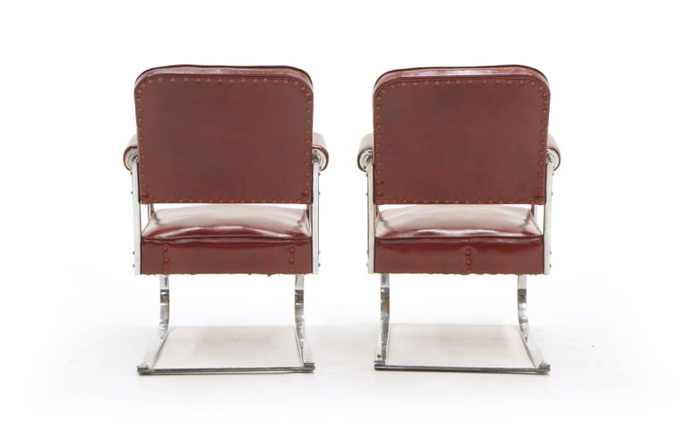 American Pair of Lounge Chairs by KEM Weber for Lloyd, Amazing Original Condition For Sale