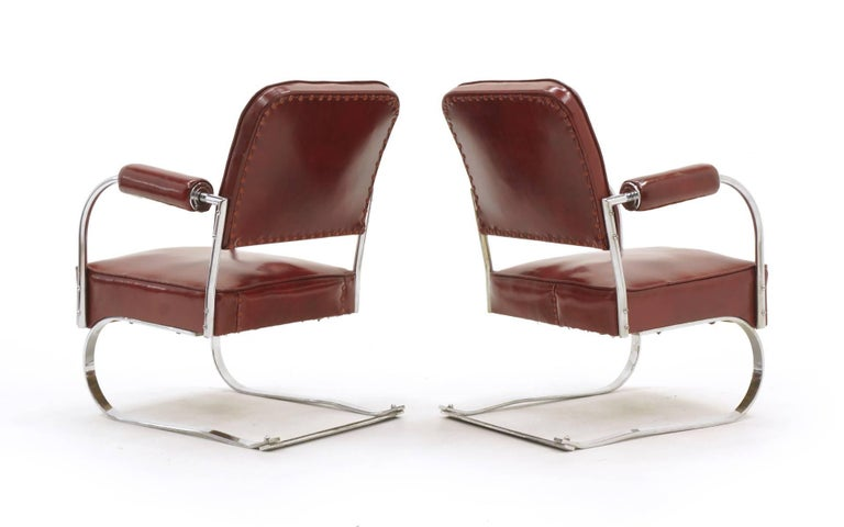 Mid-Century Modern Pair of Lounge Chairs by KEM Weber for Lloyd, Amazing Original Condition For Sale