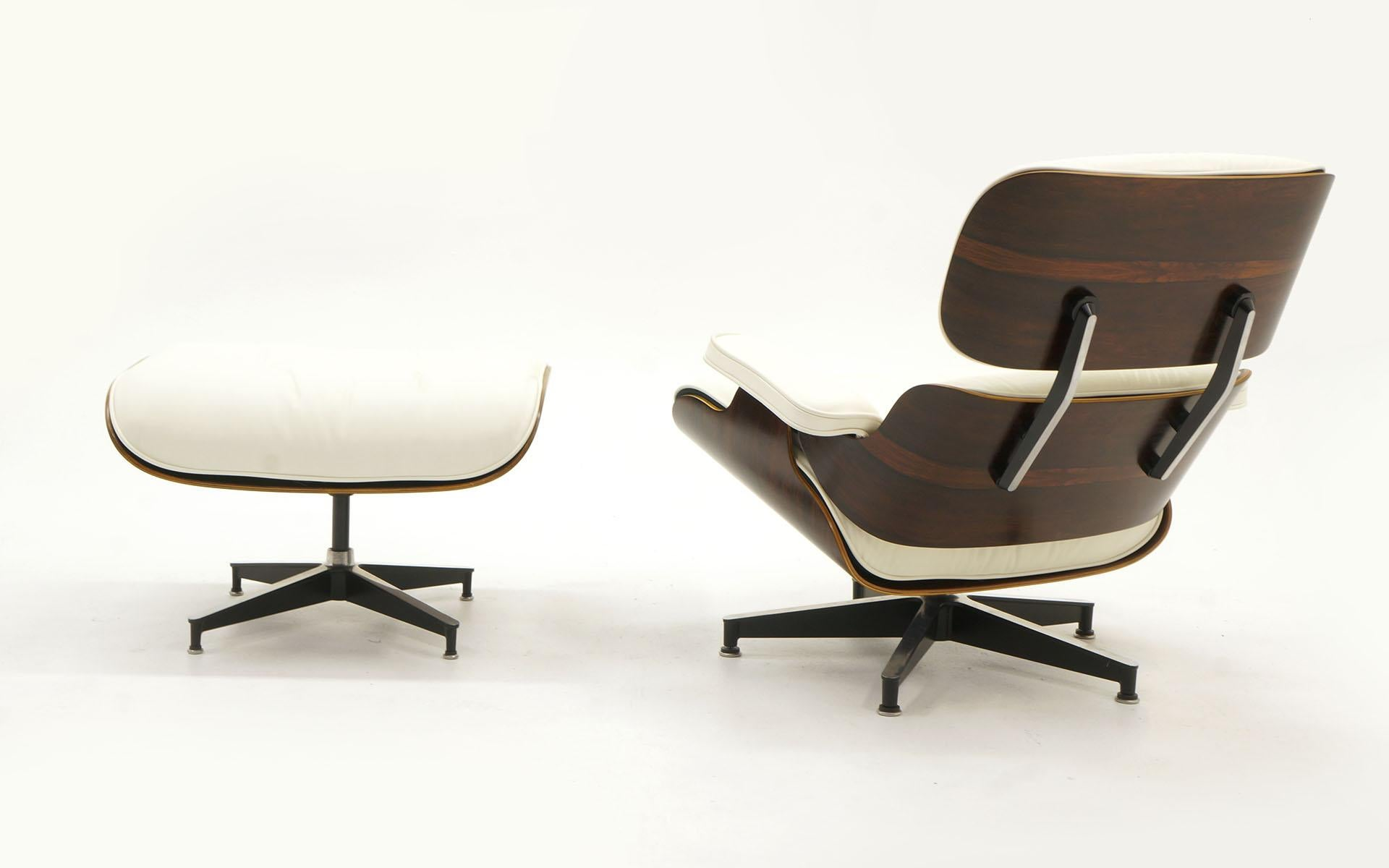 Mid Century Modern Eames Lounge Chair And Ottoman, Early Rosewood, New  Herman Miller