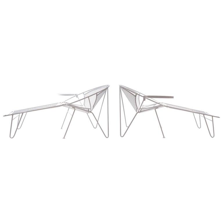 Rare Hairpin Leg Salterini Patio Lounge Chair/Chaise
