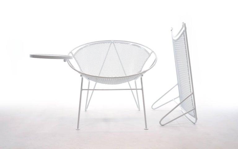 Mid-Century Modern Rare Hairpin Leg Salterini Patio Lounge Chair/Chaise For Sale