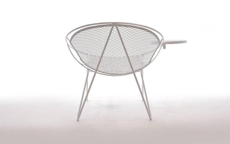 American Rare Hairpin Leg Salterini Patio Lounge Chair/Chaise For Sale