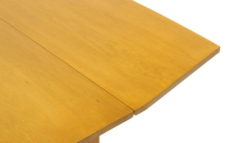 Drop-Leaf Dining Table by Paul McCobb, Expandable with Three Leaves, Solid Maple For Sale 5