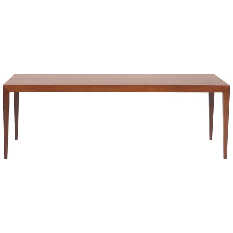 Tall Brazilian Rosewood Coffee Table by Fritz Hansen For Sale