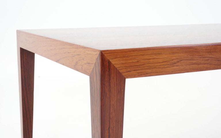 Tall Brazilian Rosewood Coffee Table by Fritz Hansen In Good Condition For Sale In Kansas City, MO