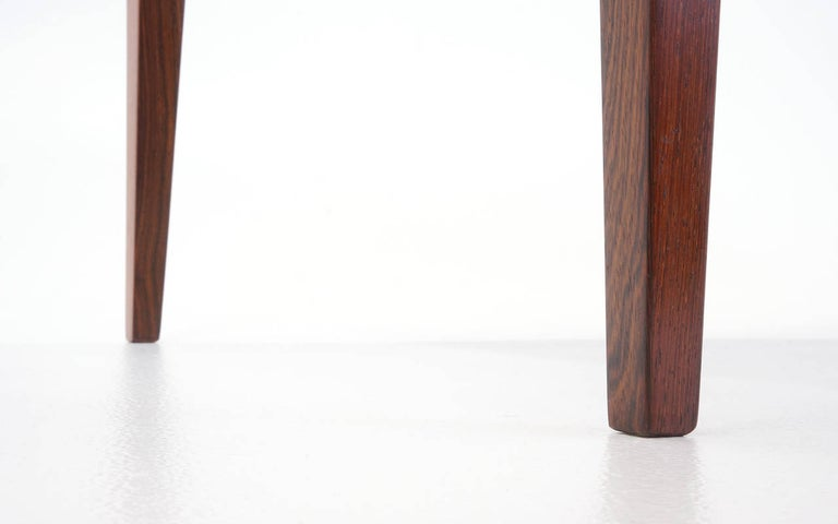 Tall Brazilian Rosewood Coffee Table by Fritz Hansen For Sale 1