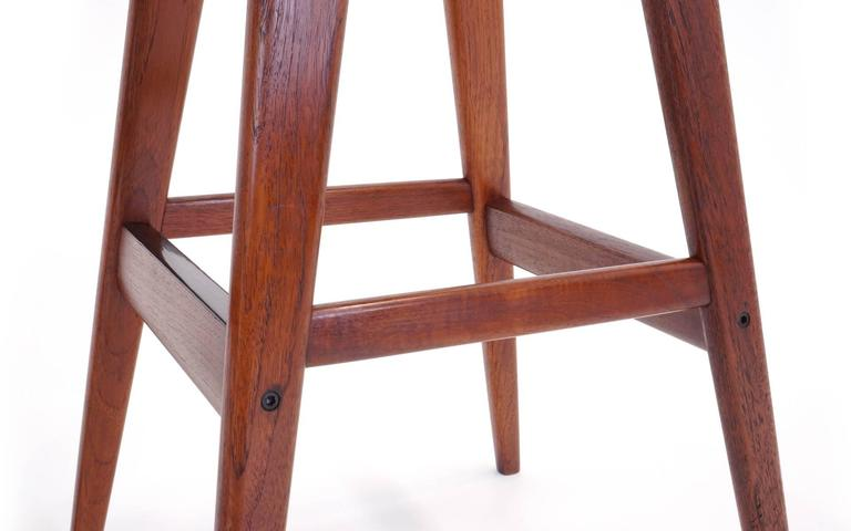 Set Of Four Rosewood Bar Stools By Henry Rosengren Hansen