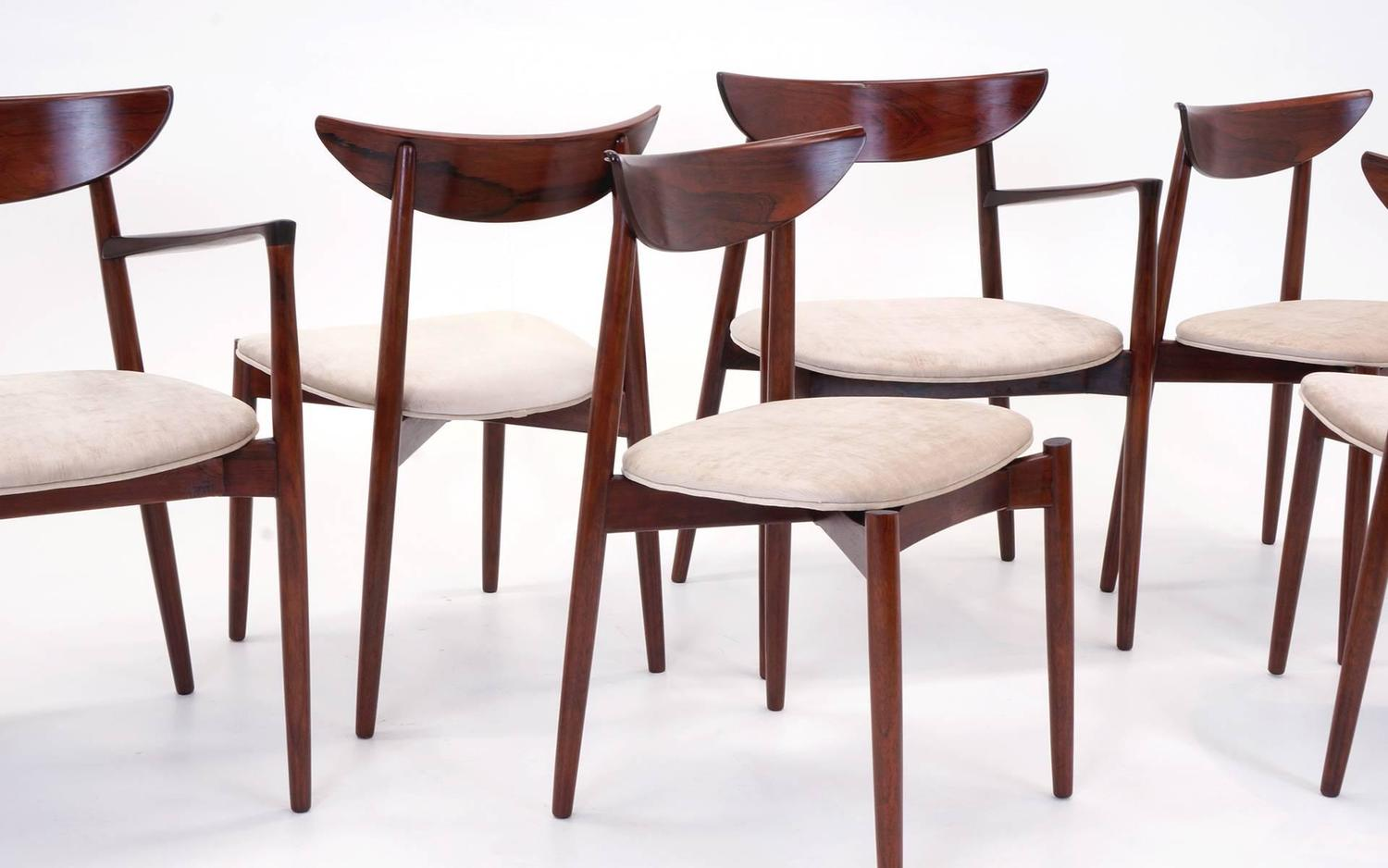 Set of eight rosewood harry ostergaard dining chairs in for Dining room sets near me