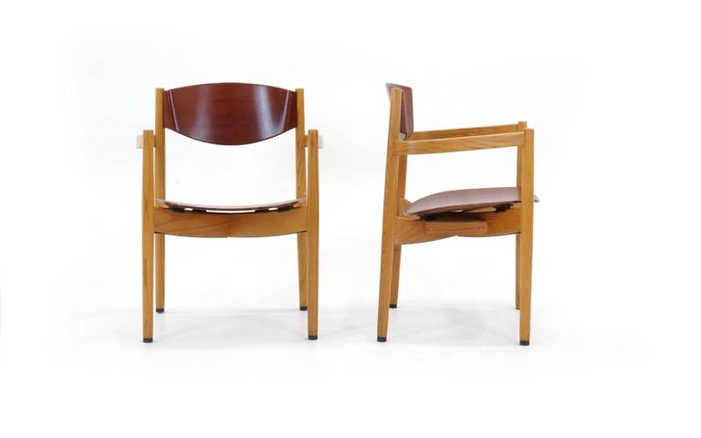 Set of four jens risom stacking chairs dining height for sale at 1stdibs - Jens risom dining chairs ...