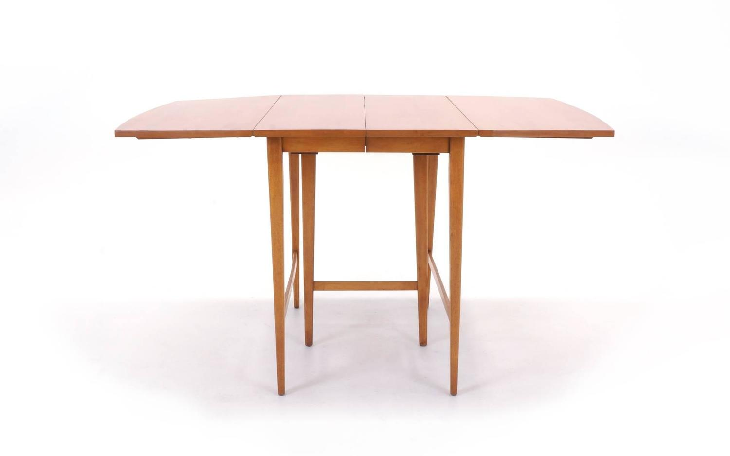 Paul mccobb expandable drop leaf dining table for sale at for Dining room table replacement leaf
