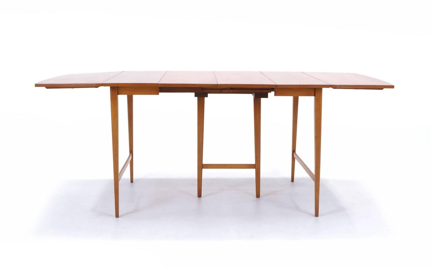 Paul Mccobb Expandable Drop Leaf Dining Table For Sale At