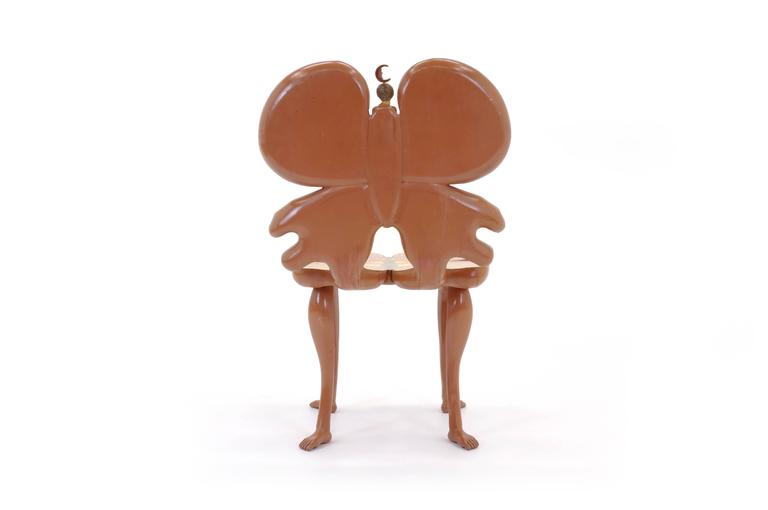Hand-Painted Pedro Friedeberg Butterfly Chair For Sale