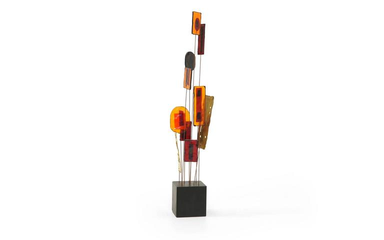 Mid-Century Modern Curtis Jere Tabletop Sculpture For Sale