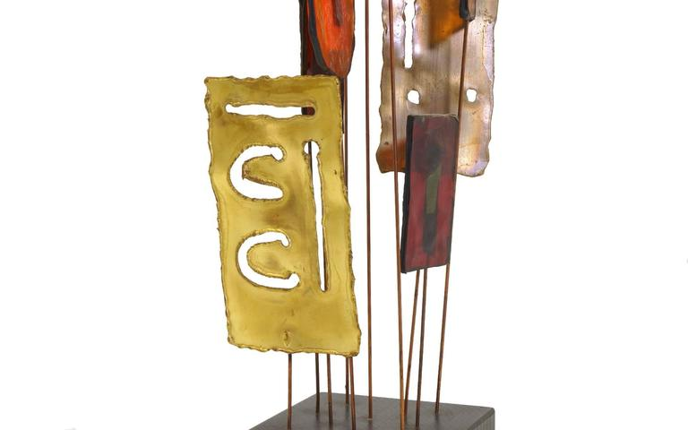 Brass Curtis Jere Tabletop Sculpture For Sale