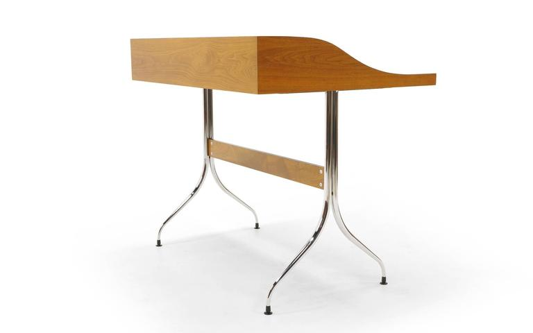 Lacquered Original Production George Nelson and Associates Swaged Legged Desk For Sale