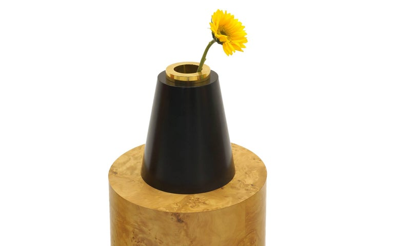 Ettore Sottsass Vases from 27 Woods for a Chinese Artificial Flower In Excellent Condition For Sale In Kansas City, MO