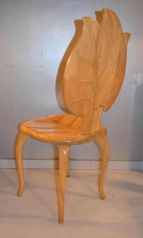 1970s Wood Furniture ~ S bartolozzi and maioli wooden leaf chair for sale at
