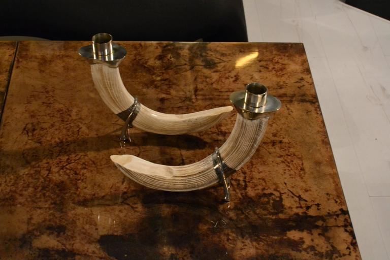 Resin 1970s Signed Christian Dior Candlesticks For Sale