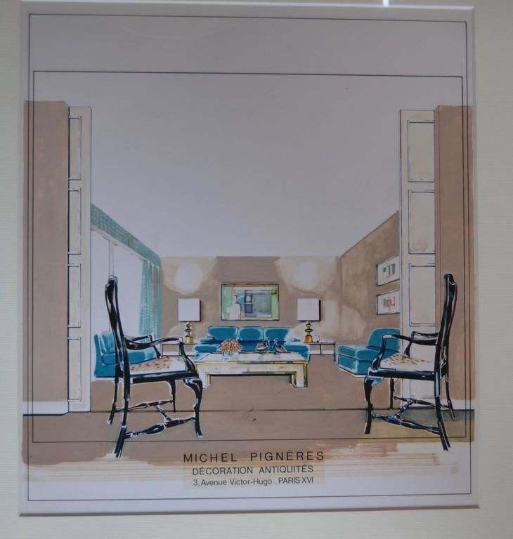 1970s Watercolor By Michel Pigneres For Sale At 1stdibs