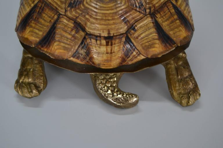 1970s Turtle Shell and Bronze Box For Sale 1