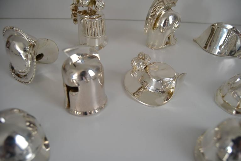 Collection of Hats in Silvered Bronze 1