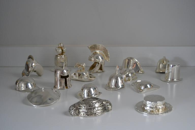 Collection of Hats in Silvered Bronze 2