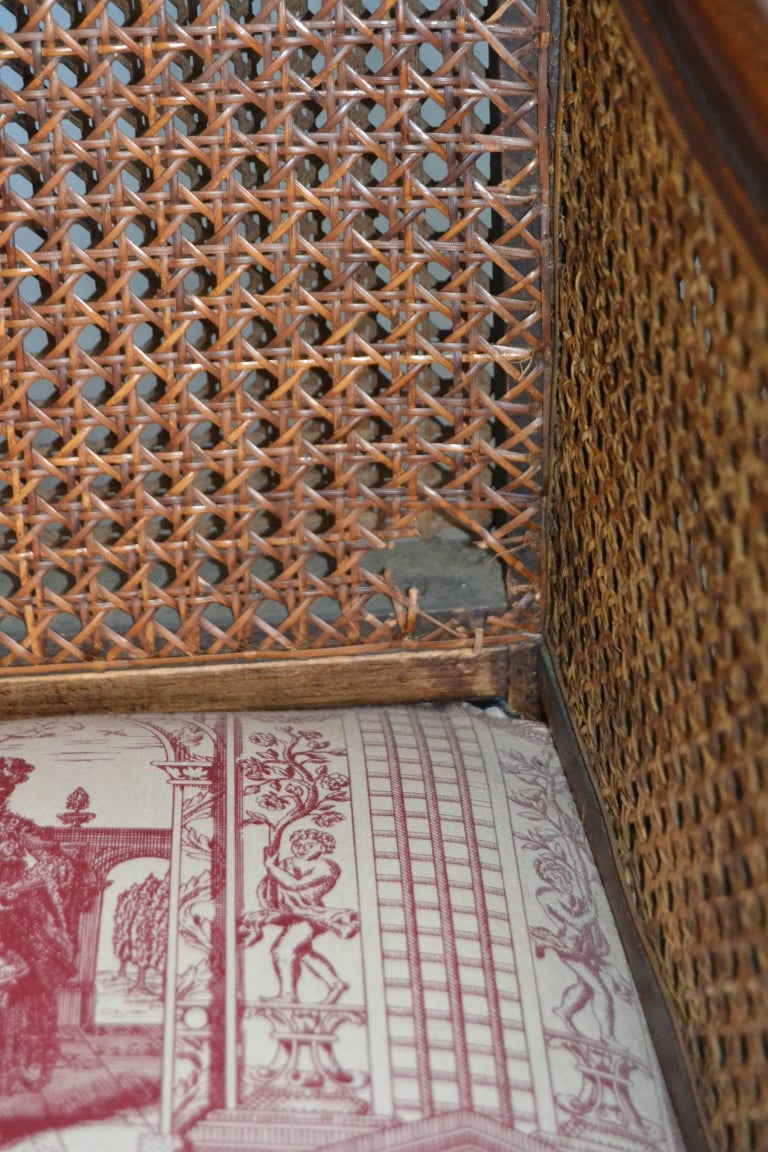Wood and Wicker French Armchair, 1900 For Sale 4