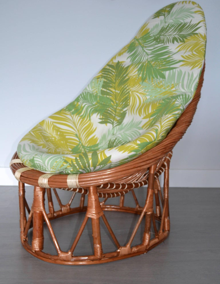 Spanish 1980s Pair of Bambou and Rattan Armchairs For Sale