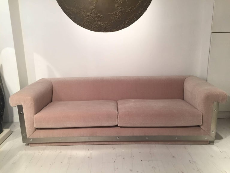 Pair of 1970s Sofas by Maison Jansen For Sale 3