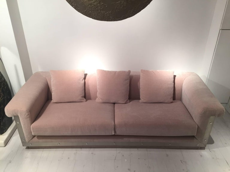 Pair of 1970s Sofas by Maison Jansen For Sale 4