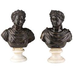 Roman Emperors Busts, Italy, circa 1800