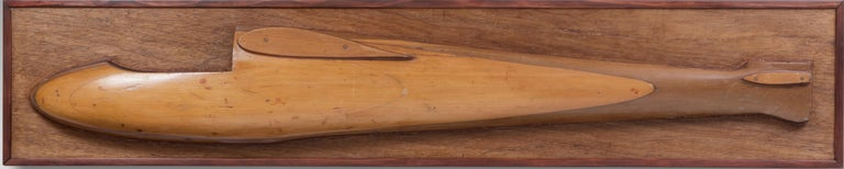 Two half model gliders, circa 1950. In various woods.