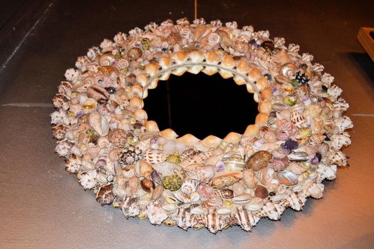 1970s Amethyst and Shell Mirror by Redmile For Sale 2