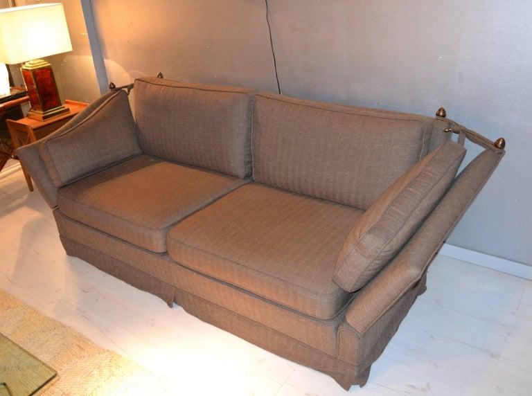 Mid-Century Modern Maison Jansen Sofa For Sale
