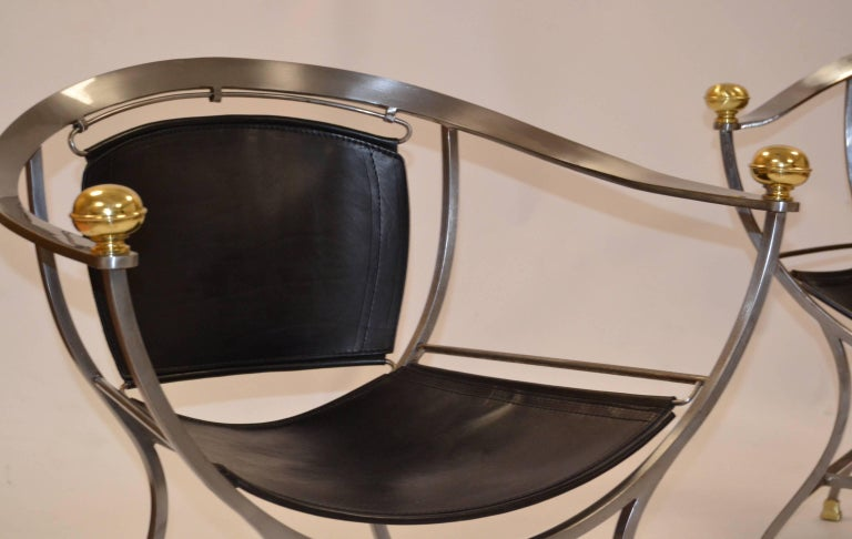Two Armchairs 1970s Italian Designer Alberto Orlandi In Good Condition For Sale In Saint-Ouen, FR