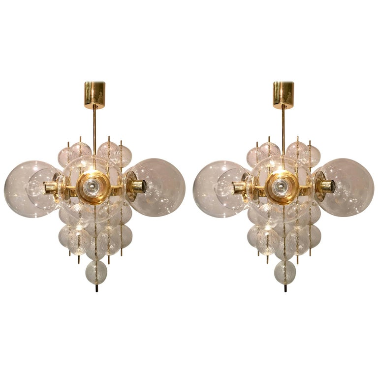 Pair of Kamenicky Senov Chandeliers