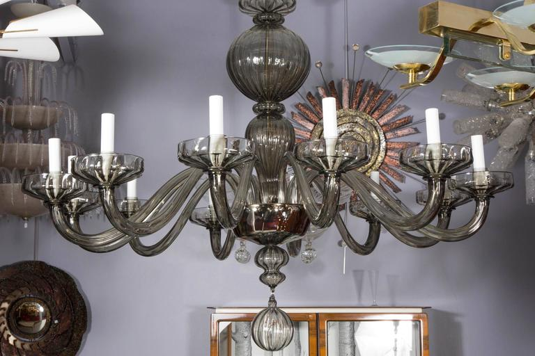 French Murano Glass Chandelier For Sale
