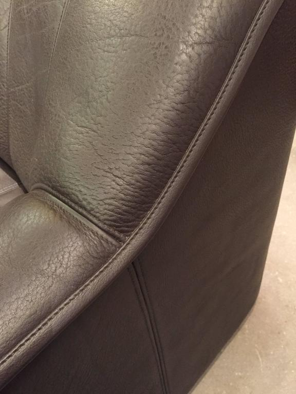 Swiss Pair of DS44 De Sede Leather Sofas For Sale