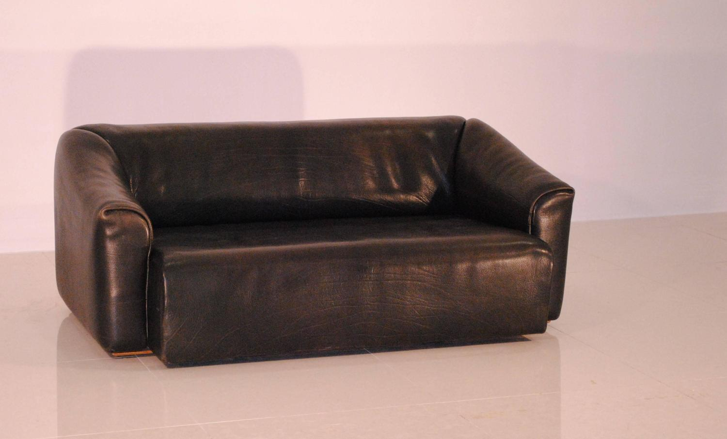 De Sede Ds 47 Grey Buffalo Leather Lounge Sofa 1970s For Sale At 1stdibs