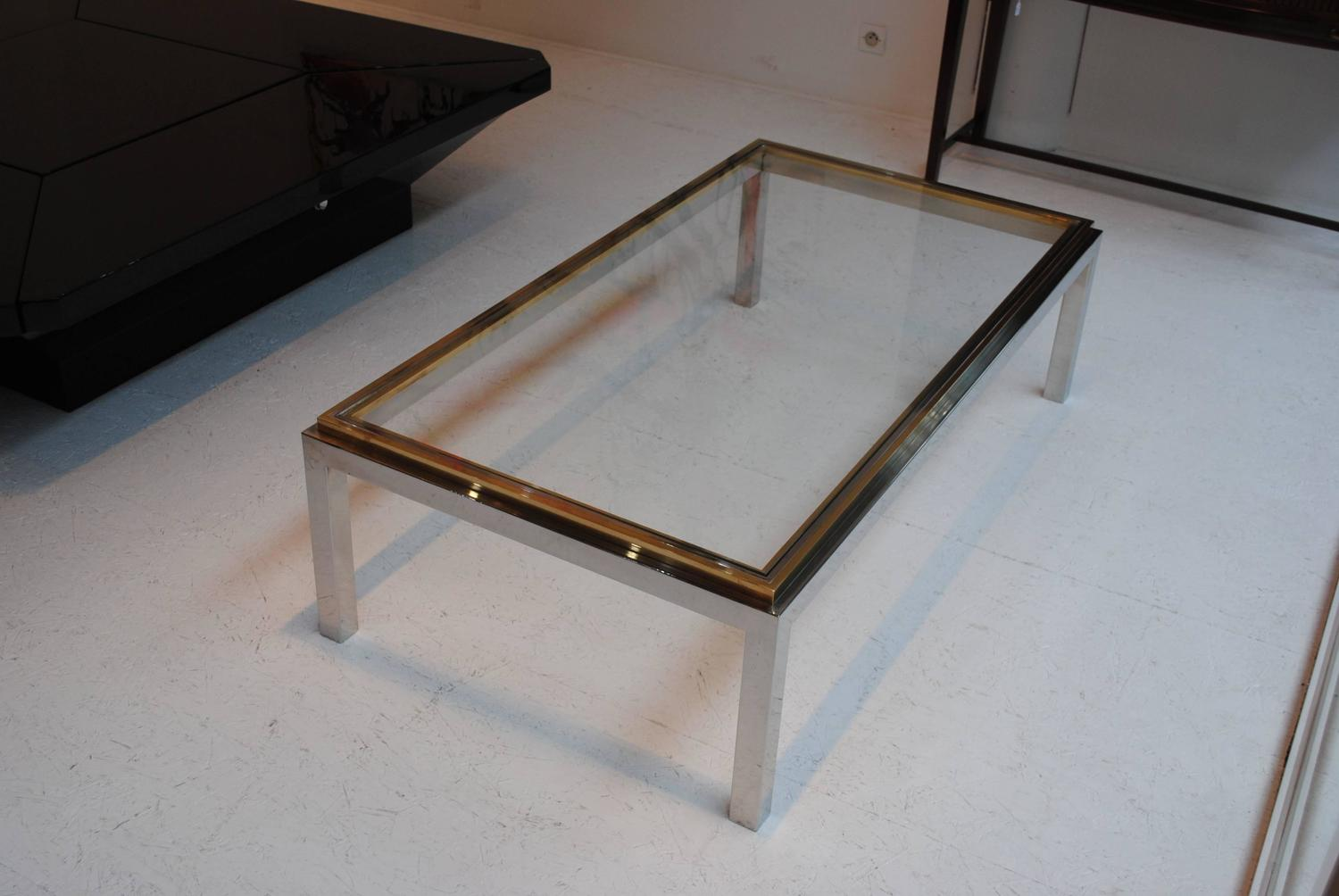 39 flaminia 39 coffee table by willy rizzo for sale at 1stdibs for Coffee table 70 x 40