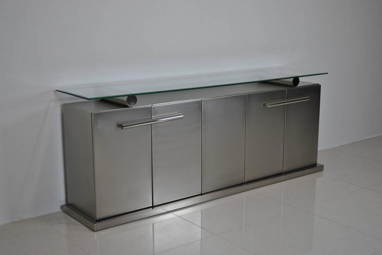Spectacular Stainless Steel Sideboard by Koenraad Dewulf for BelgoChrom 4