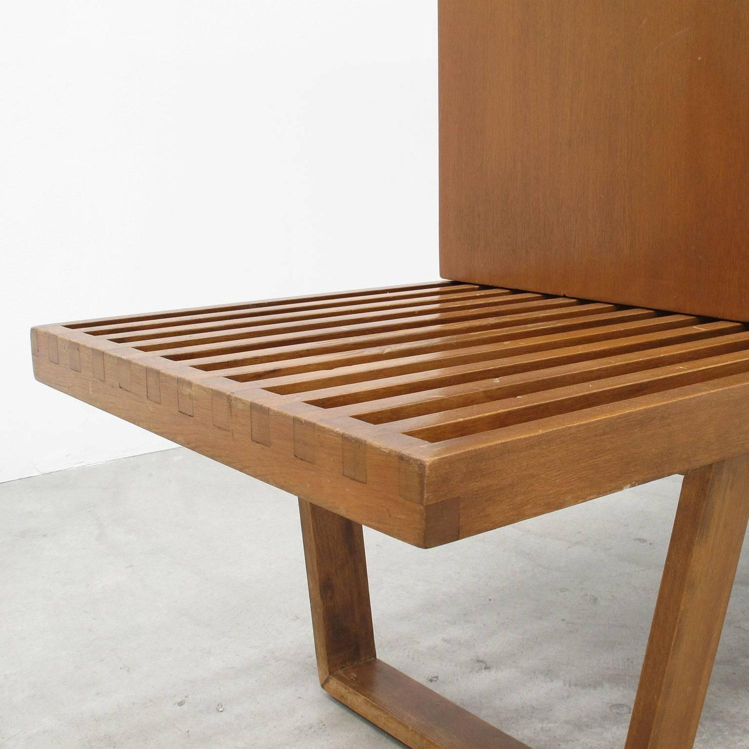 Wood Cabinet And Slat Bench Set By George Nelson 1950s Vintage Herman Miller At 1stdibs