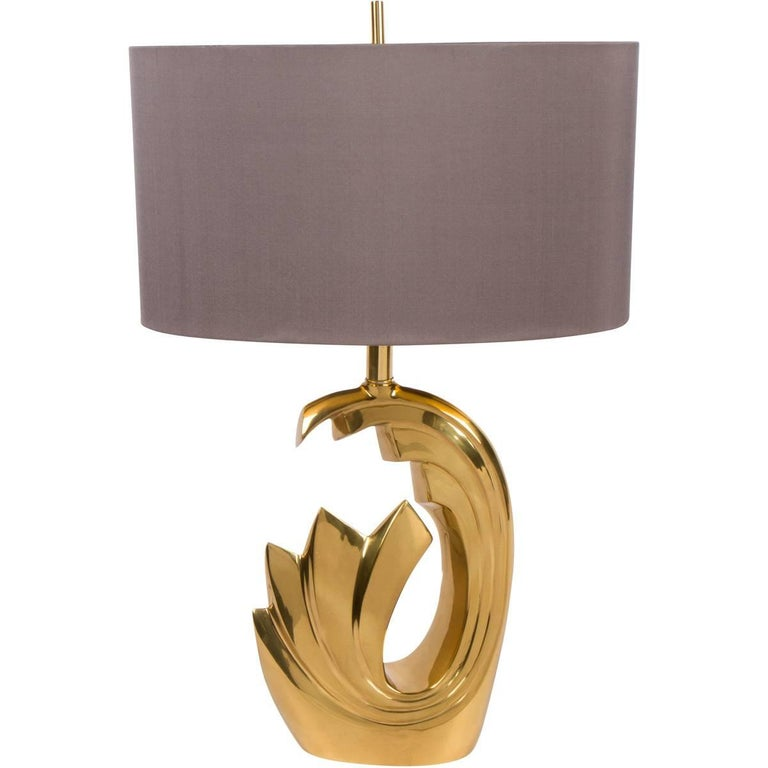 Brass Lamp attributed to Pierre Cardin, 1970s