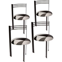 Set of Four 1980s, Memphis Style Dining Chairs